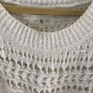Lou & Grey Sweaters - Lou & Grey open weave white sweater size XS